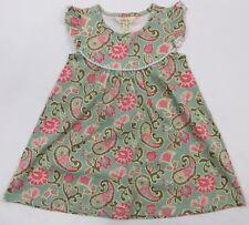 Matilda Jane Girls Size 4 Happy And Free Growing Season Pearl Dress Green Floral