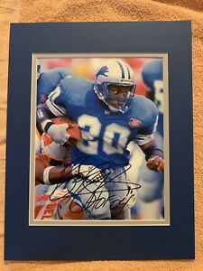 Barry Sanders, Detroit Lions All-Time Great, Autographed 8x10 Photo  Matted. COA