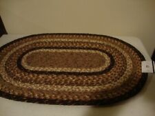 Country new rustic Oval Braided Rug / Nice