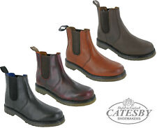 Mens Leather Chelsea Ankle Dealer Boots Catesby Twin Gusset Riding Equestrian