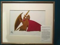 TARAN AS VALOROUS KNIGHT, BLACK CAULDRON DISNEY 16 FLD ANIMATION PRODUCTION CEL