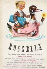 PUBBLICITA' 1952 LANE ROSSI TESSUTO LANA ROSSELLA IRRESTRINGIBILE MAGLIERIA BIMB