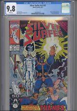 Silver Surfer V3 #55 CGC 9.8 1991 Marvel Infinity Gauntlet Crossover, Thanos App