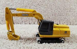 ERTL 1/64 Scale Diecast John Deere Yellow Excavator Construction Equipment