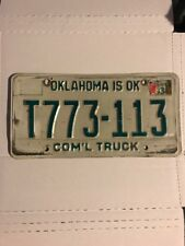 1983 OKLAHOMA IS OK COM'L TRUCK LIC PLATE T773-113