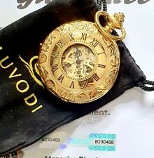 Reloj De Bolsillo 24k Chapado en Oro Bolsa De Regalo Mecánico Antiguo PACIFISTOR cinética