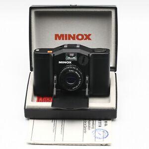 MINOX 35 GL Film Camera 35mm f2.8 Minotar + Case + Documents