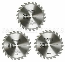 3 PACK 8-1/4 VECTOR TOOLS CIRCULAR MITER SAW BLADES CARBIDE TIP 24T