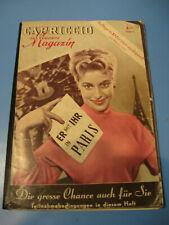 Cariccio Magazin von 1953. Film,Show,Erotik,Bühne,Stars-Variete- Film-Pin Up-Akt