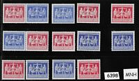 #6398  18  MNH 1948 stamp sets  Russian Zone / Hanover Germany Trade Fair