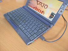 RARE vintage Sony VAIO C1 Pentium II 400MHz PCG-C1 XG UMPC WIN 98 DOS PC games