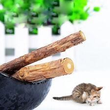 5x Pet Chew Stick Natural Matatabi Catnip Cat Molar Grinding Claws Treat Toy SL