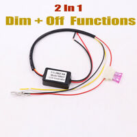 LED DAYTIME RUNNING LIGHT RELAY HARNESS DRL CONTROL MODULE AUTO ON/OFF DIMMER