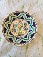 EXCELLENT CONDITION Antique Boch Freres Keramis Hanging Plate - 10""