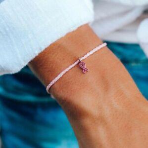 PURA VIDA ROSE GOLD  BREAST CANCER BRACELET 💕10% DONATION‼️SAME DAY FREE SHIP‼️