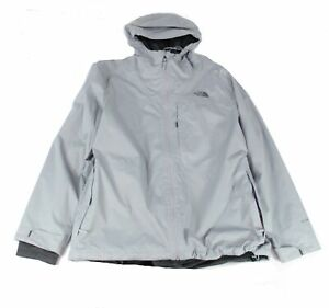 The North Face Mens Jacket Gray 2XL Fleece-Lined Hooded Triclimate $199 #143