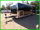 8.5 x 28 28ft Enclosed Cargo Racing Dragster Motorcycle Show Car Hauler Trailer