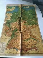 "Federal Republic of Germany & Berlin Map 23"" X 15"" Boundary of 1937 Included"