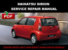 2004 - 2010 DAIHATSU SIRION SERVICE REPAIR WORKSHOP FSM MANUAL + WIRING DIAGRAM