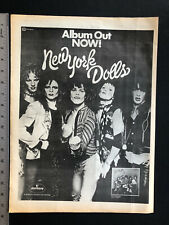 "New York Dolls 1973 Original 13X17"" Self-titled Debut Album Release Promo Ad"