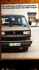 Prospekt Brochure VW T3 Bus Caravelle Carat 1983