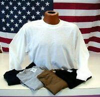 Coolmax Extreme Adult Lg Sleeve Tee No Sweat lightweight Size S to 3X.  Made USA
