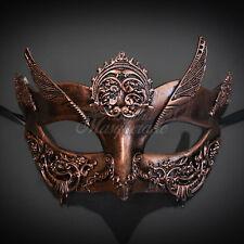 Steampunk Goddess Theater Masquerade Mask for Women - Metallic Rose Gold