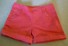 JUICY COUTURE $98 CHINO SAILOR Logo Button Front Cuff Stretch SHORT  Sz 0