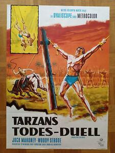 Kinoplakat TARZANS TODES-DUELL Filmposter A1 1963 Jock Mahoney Dill Grafik MGM
