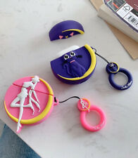 Cartoon Sailor Moon Luna cat Wireless Bluetooth Earphone Case  For Apple Airpods