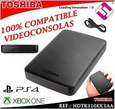 DISCO DURO TOSHIBA 1000GB 2.5 SATA EXTERNO USB 3.0 Y 2.0 1TB PS4 XBOX ONE (LEER)