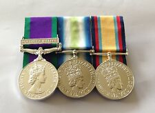 GSM Northern Ireland, Falklands, Iraq Gulf War, Mounted Medals, Full Size, Army