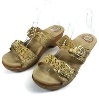 Dansko Sophie Womens Size 41 US 10.5-11 Faux Snakeskin Slides Sandals 9841652200