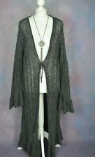COZZI By signature grey shaggy long boho mohair blend cardigan XL