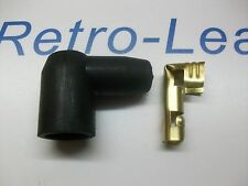 IGNITION LEAD DISTRIBUTOR PLUG FITTING RUBBER BOOT CAP & TERMINAL 90 DEGREE DIN