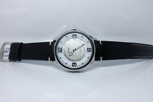 Vive Uhr Armbanduhr Neu Edelstahl Leder Schwarz Weiß Silber