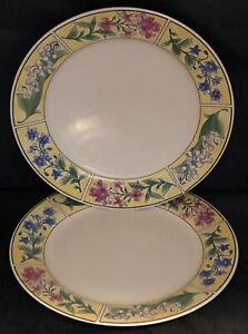 "MAJESTICWARE Sakura 10 5/8"" Dinner Plates Spring Valley Sue Zipkin Set Of 2"