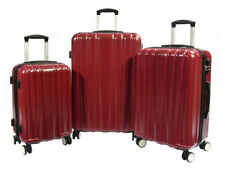 Unisex Adult Plastic Suitcases with Extra Compartments