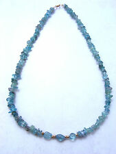 NATURAL APATITE NECKLACE 14K G/F BEADS 18 INCH