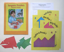 Evan Moor Math Center Learning Resource Game Tangram Puzzlers Geometric Shapes