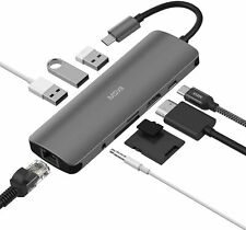 USB C Hub, MacBook Pro Adapter USB C Dongle, 9 in 1 USB C