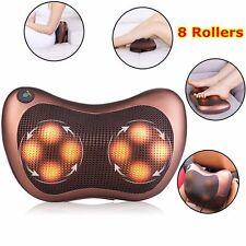 Electronic Pillow Kneading Shiatsu Car Neck Back Shoulder Heat Health Massagers