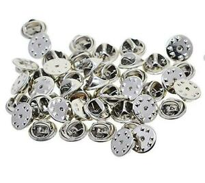 25 PIN BADGE BUTTERFLY BACKS LAPEL CLUTCH CLASP SILVER PLATED TS55