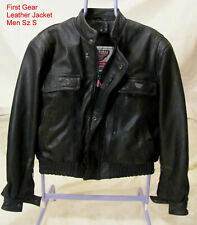 FIRST GEAR Hein Gericke MEN Sz S Motorcycle Jacket Black Leather
