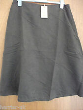 BNWT Ladies Mocha Cotton Traders Soft Suedette  A line Skirt Size 16UK