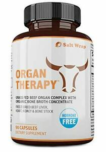Organ Therapy Grass Fed Beef Organ Meat Complex Supplement with Organic Bone Bro