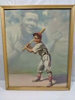 BABE RUTH LITHOGRAPH, C'MON KID 1950s William Medcalf Brown and Bigelow