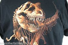 Wild Cotton Dinosaur T-Rex skeleton Brian Kalt.  Mens Large dino prehistoric 025