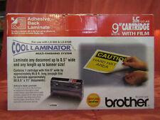 "Genuine Brother LC-A9 Cool Laminator 9"" Cartridge & Film Adhesive Back Laminate"
