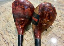 Vintage Wilson Gene Sarazen Wood Clubs 1&3